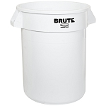 Rubbermaid Commercial 2610WHI 10 Gallon Brute® Round Container w/out Lid White