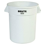 Rubbermaid Commercial 2620WHI 20 Gallon Brute® Round Container w/ out Lid White