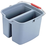 Rubbermaid Commercial 2617GRA 17 Qt. Brute® Double Pail Plastic Bucket Gray