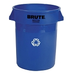 Rubbermaid Commercial 263273BE 32 Gallon Brute® Round Recycling Containers w/out Lid Blue