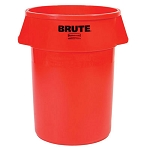 Rubbermaid Commercial 2632RED 32 Gallon Brute® Round Containers w/out Lid Red