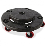 Rubbermaid Commercial 264043BLA Brute® Quiet Dolly For 2620 2632 2643 2655 Containers Black