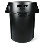 Rubbermaid Commercial 264360BK 44 Gallon Brute® Utility Container w/ Venting Channels Black