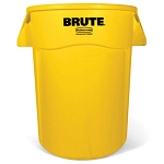 Rubbermaid Commercial 264360YEL 44 Gallon Brute® Utility Container w/ Venting Channels Yellow