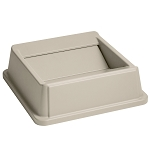 Rubbermaid Commercial 2664BEI Untouchable® Square Swing Top For 3958 3959 Containers Beige