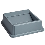 Rubbermaid Commercial 2664GRAY Untouchable® Square Swing Top For 3958 3959 Containers Gray