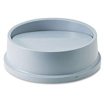 Rubbermaid Commercial 267200GY Untouchable® Round Swing Top For 2947 3546 Containers Gray