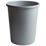 Rubbermaid Commercial 2947GRA 11 Gallon Untouchable® Round Wastebasket Gray