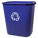 Rubbermaid Commercial 295673BE 28 Qt. Deskside Paper Recycling Container Blue