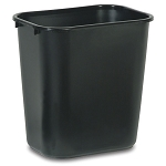 Rubbermaid Commercial 295600BK 28 Qt. Deskside Plastic Wastebasket Black