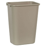 Rubbermaid Commercial 295700BG 41 Qt. Deskside Plastic Wastebasket Beige