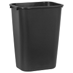 Rubbermaid Commercial 295700BK 41 Qt. Deskside Plastic Wastebasket Black