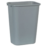 Rubbermaid Commercial 295700GY 41 Qt. Deskside Plastic Wastebasket Gray