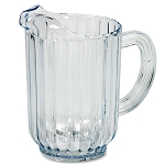 Rubbermaid Commercial 3336CLE 32 Oz. Bouncer® Plastic Pitcher Clear 6 Per Case Price Per Each