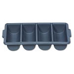 Rubbermaid Commercial 3362GRA Cutlery Bin w/ 4 Compartments Gray 6 Per Case Price Per Each
