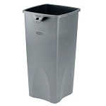Rubbermaid Commercial 356988GY 23 Gallon Untouchable® Square Container w/out Lid Gray