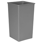 Rubbermaid Commercial 3959GRA 50 Gallon Untouchable® Square Container w/out Lid Gray