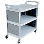 Rubbermaid Commercial 4093CRE Xtra™ Utility Cart w/ Enclosed End Panels on 3 Sides Cream