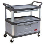 Rubbermaid Commercial 4094GRA Xtra™ Instrument Cart w/ Lockable Doors & Sliding Drawers Gray