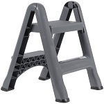 Rubbermaid Commercial 4209 CYL Folding Two-Step Step Stool 300Lb Gray
