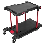 Rubbermaid Commercial 430000BK Convertible Utility Cart w/ Platform Truck Black/Red