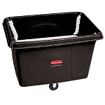 Rubbermaid Commercial 4611BLA 14 Cubic Ft Spring Platform Truck Black