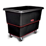 Rubbermaid Commercial 4712BLA 12 Cubic Ft Heavy-Duty Utility Truck w/ 4