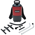 Sanitaire SC412B Quiet Clean Commercial 6 Qt. Backpack Vacuum 11.5 Amps Disposable Dust Bag System 50' Power Cord