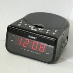 "Sonnet CD-30MP3 0.6""LED Clock Radio w/ CD Player & Aux in Cord Black 6 Per Case Price Per Each"