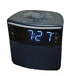 "Sonnet R-1428 0.9"" LED FM Clock Radio w/ Bluetooth Speaker & USB Charging Port Black 20 Per Case Price Per Each"