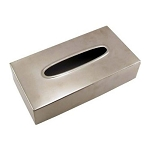 Steeltek® Pewter Veil Rectangle Tissue Box Cover 12 Per Case Price Per Each