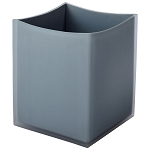 Steeltek® The Smoke Collection 9 Qt. Double Wall Resin Curve Waste Basket 4 Per Case Price Per Each