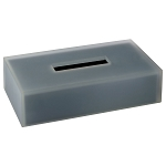Steeltek® The Smoke Collection Double Wall Resin Flat Rectangle Tissue Box 6 Per Case Price Per Each