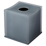 Steeltek® The Smoke Collection Double Wall Resin Indented Boutique Tissue Box 8 Per Case Price Per Each