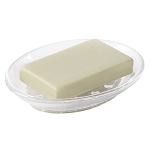 Steeltek® Resin Oval Soap Dish Clear 36 Per Case Price Per Each