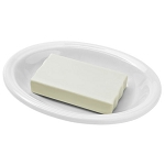 Steeltek® Ceramic Oval Soap Dish White 36 Per Case Price Per Each