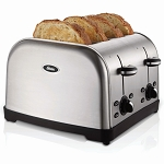 Sunbeam® TSSTTRWF4SSHP Oster® 4 Slice Extra-Wide Slot Toaster Brushed Stainless Steel 2 Per Case Price Per Each