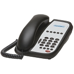 Teledex I Series A105 Analog Single Line Phone w/ 5 Guest Service Keys Flash & Redial Black or Ash 10 Per Case Price Per Each
