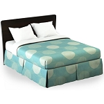 Martex Rx Circles & Stripes Bed Skirt Twin XL 39x80x15 Poly/Cotton Aqua 1 Dz Per Case Price Per Each