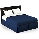 Martex Rx Solid Navy Bed Skirt Twin XL 39x80x15 Poly/Cotton 1 Dz Per Case Price Per Each