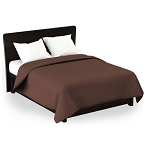 Martex Rx Solid Color Chocolate Coverlets