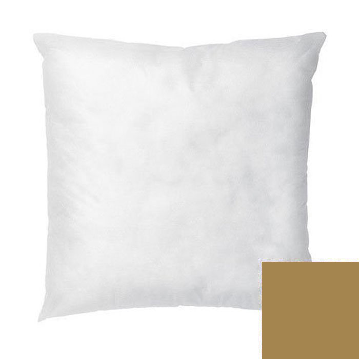 Martex Rx Solid Color Gold Decorative Square Pillow Cover W Insert 18x18 Poly Cotton 6 Per Case Price Each