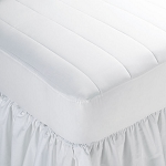 Martex Basics Choice Woven Fitted Mattress Pad King 70x80 White 6 Per Case Price Per Each