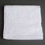 Martex Simplicity Dobby Border Washcloths 13x13 100% Ring Spun Cotton White 1.5Lb/Dz 24 Dz Per Case Price Per Dz