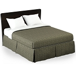 Martex Rx Bennet Bed Skirt Full XL 54x80x15 Poly/Cotton Green Printed Design 1 Dz Per Case Price Per Each