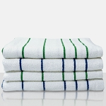 Martex Resort Pool Towels 30x60 95% Cotton 5% Polyester White w/ Blue Stripe 12.3Lb/Dz 3 Dz Per Case Price Per Dz