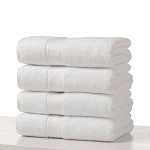 Martex Grand Patrician Suites Dobby Border Bath Towels 30x56 100% Combed Ring Spun Cotton 3-Ply Yarn White 18Lb/Dz 3 Dz Per Case Price Per Dz
