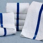 Martex Blue Stripe Pool Towels 20x40 100% Cotton Loops 5.5Lb/Dz 10 Dz Per Case Price Per Dz