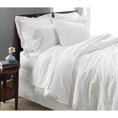 1888 Mills Oasis T-300 Flat Sheets Queen 96x125 100% Ring Spun Combed Cotton White 1 Dz Per Case Price Per Dz