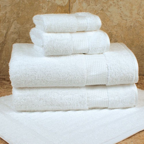 1888 Mills Lotus Bath Towels 27x58 100% Ring Spun Egyptian Combed Cotton White 18Lb/Dz 2 Dz Per Case Price Per Dz